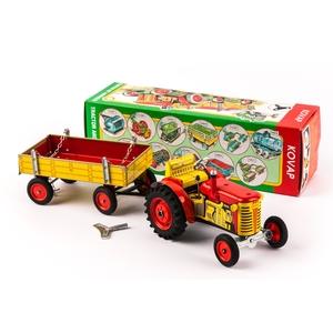 Traktor Zetor 25 KOVAP mit Pritschenwagen